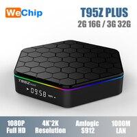 4K Ott Box T95Z Plus Amlogic S912 Octa core 2G 16G 3G 32G Smart Android 7.1 TV Box Dual Wifi Bluetooth 4.0 Set Top Box PK X96