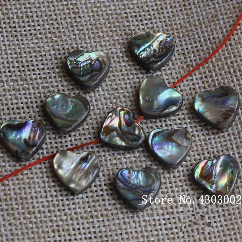 100 unids/lote corazón Natural Abalone Shell Madre de la perla shell para DIY pendientes joyería corazón corte abulón perla shell-in cuentas from Joyería y accesorios    1