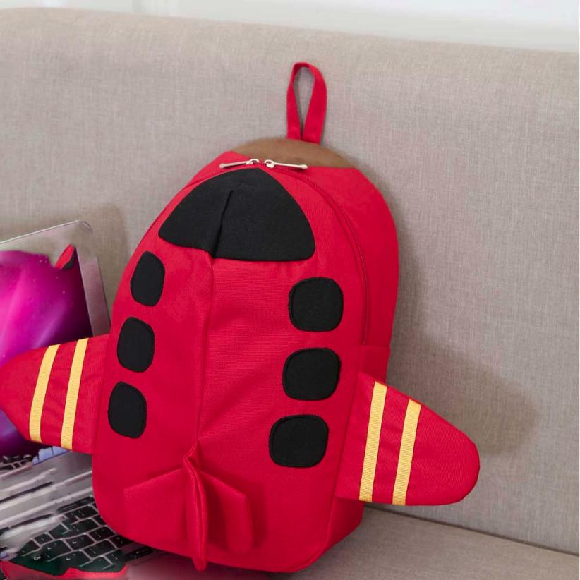 Baby Boys Girls Lovely Cartoon Plane Pattern Animals Backpack Toddler School Bag