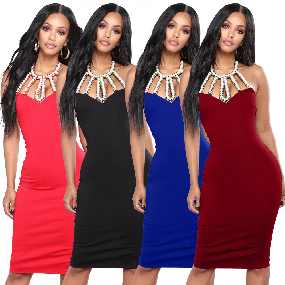 Women Beautiful Cheap Dresses Pearl Color Dresses Sexy Club Dress off shoulder Black Friday Deals Vestido Feminino Dames Kleding