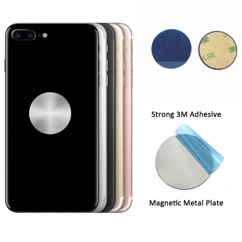 Metal Plate disk iron sheet for Magnet Mobile Phone Holder For Magnetic Car Phone Stand holders Universal Replacement