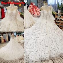 07894 Vintage Long Sleeves Wedding Dresses 2018 Gowns