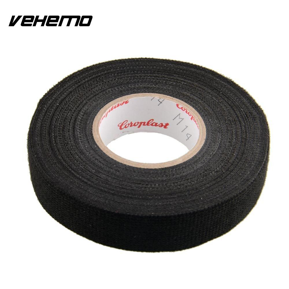 vehemo adhesive 19mmx15m cloth fabric tape cable looms wiring harness for car auto vehicle roll trucks black pet fleece [ 1000 x 1000 Pixel ]