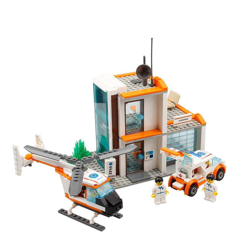 ФОТО kazi city hospital rescue center kids toys  for children helicopter car minifigures building blocks sets compatible with lego