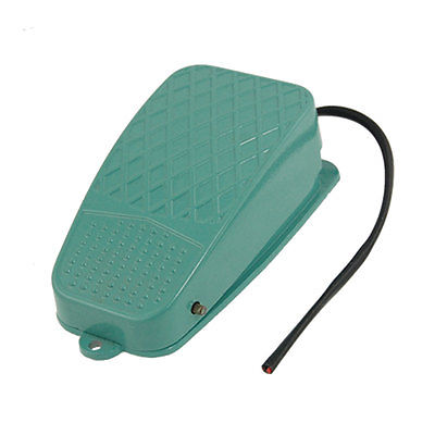 Antislip Momentary Contact Wired Metal Foot Switch AC 250V 10A CFS-101 1M Cable Length ac 250v 10a momentary 1no 1nc foot control pedal switch cfs 3