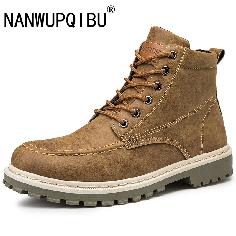 Men Shoes Male Boots High Top Boots Men Motorcycle Work Shoes Boots Men Pu Leather Ankle