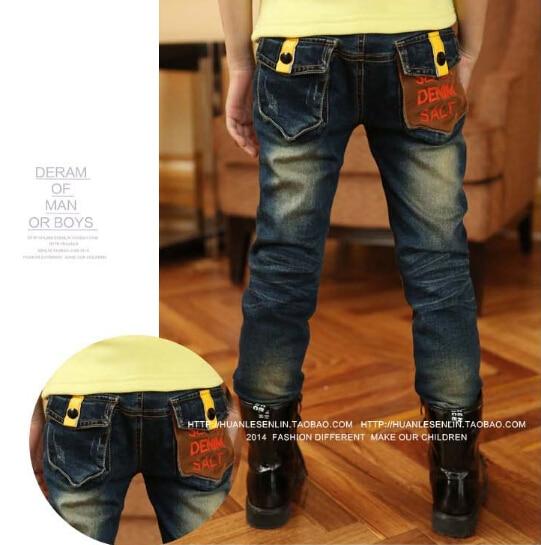 Retail+++ new 2014 spring zipper design children's boys jeans denim long pants,jeans - Black Tuesday store