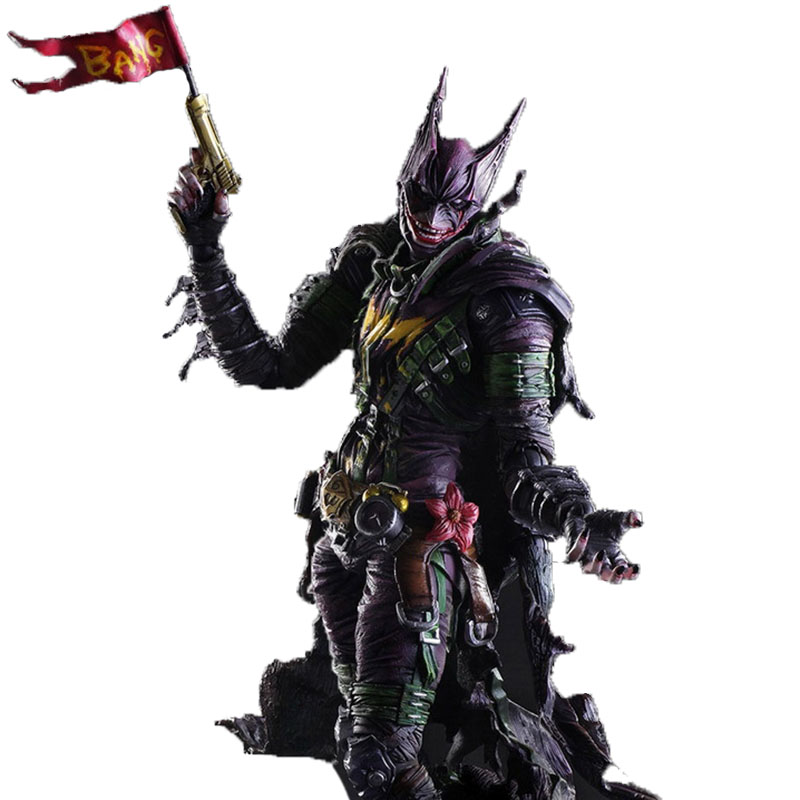 Batman Figure Gogues Gallery Joker Batman Play Arts Kai Play Art KAI PVC Action Figure Bat Man Bruce Wayne 26cm Doll Toy rainbow suit batman zebra detective bat man the dark knight batman bruce wayne super heroes figures children gift toys kf1033