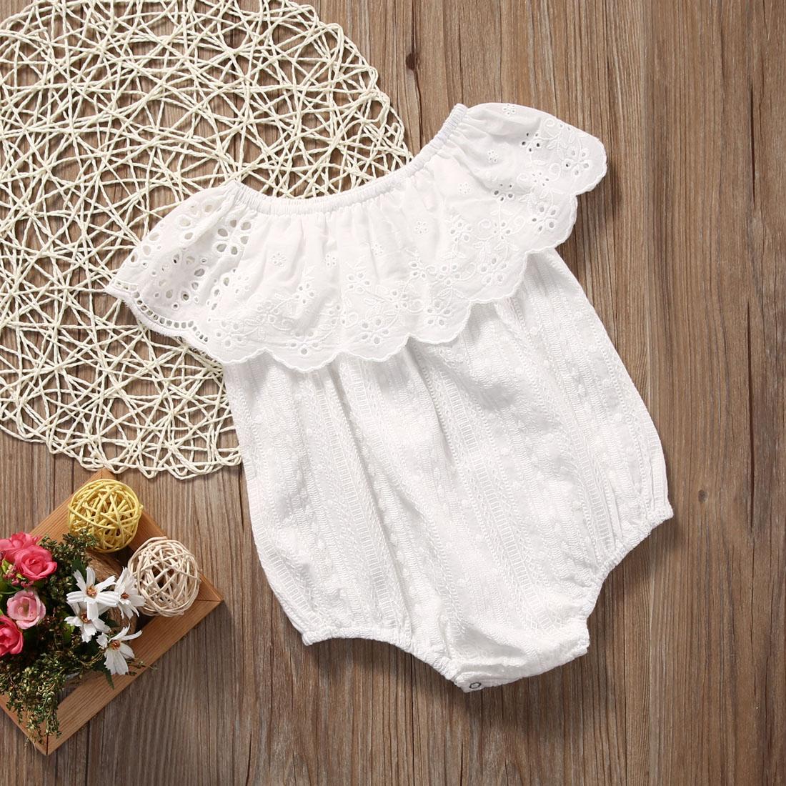 Del Bambino Del Bambino Della Ragazza Di Fiore Del Cotone Della Tuta Della Tuta Infantile Vestiti Vestito Prendisole Elegante Nell'Odore