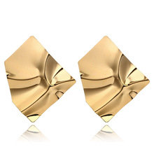 2018 New Retro Fashion Alloy Gold&Silver Plated Statement Earrings Punk Style Party Women Jewelry Vintage Drop Dangle Earrings