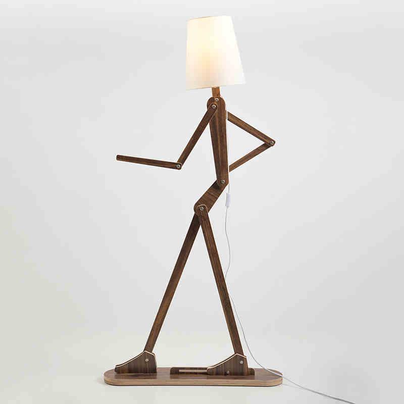 classic chinese wooden floor lamp modern minimalist wooden floor bedroom bedside floor standing lamp adjustable heads floor lamp
