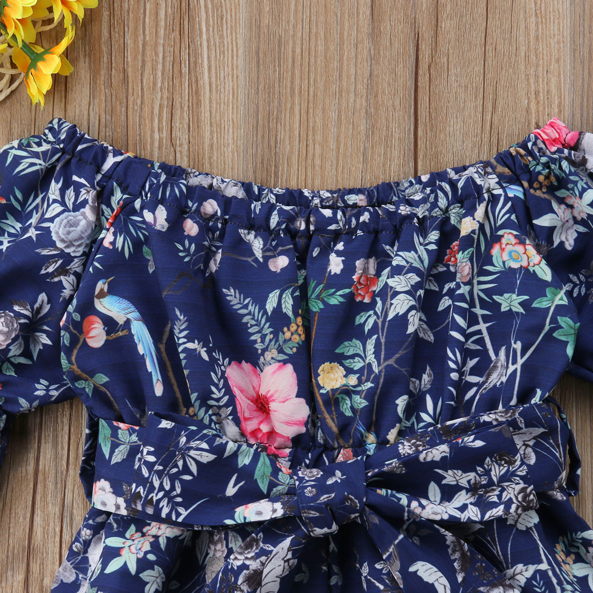 4a78bbe7117 Kids Baby Girl Off The shoulder Floral Romper Jumpsuits Trousers Outfits  Clothes-in Rompers from Mother   Kids on Aliexpress.com