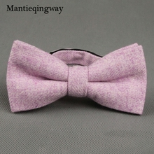 Mantieqingway Wedding Party Bowties For Men Solid Wool Bowtie Tuxedo Gravatas For Women Colorful Business Bow Ties For Suits