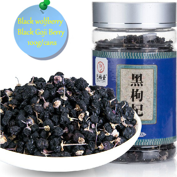 100g Wild Black Goji Berry Dried Goji Berries Chinese Gouqi Berry