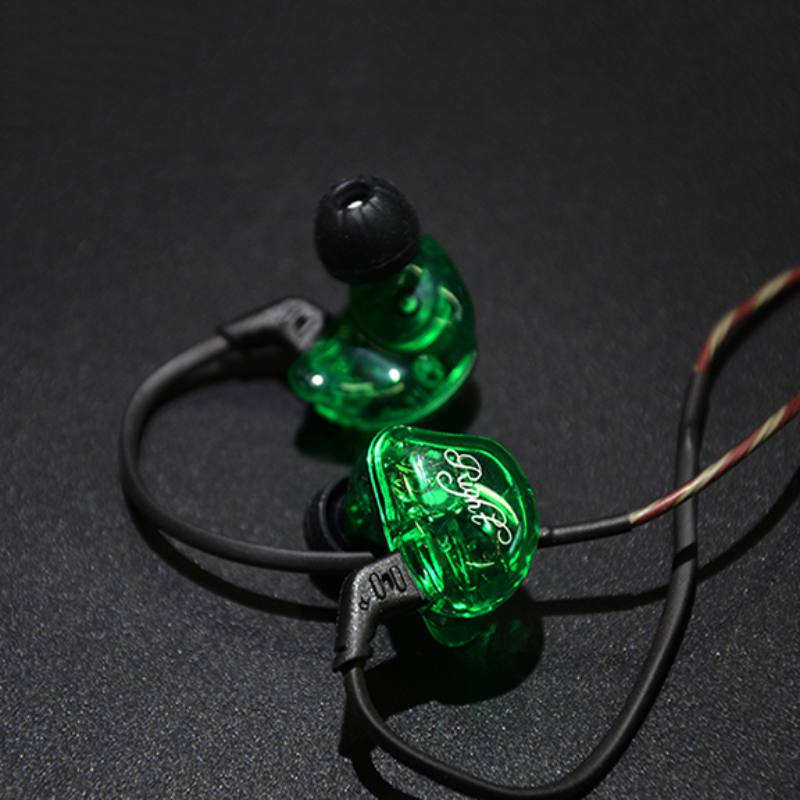 KZ ZSR In-Ear Earphone Hifi Stereo Bass Earbuds with 2 Pins Detachable Cable Noise Isolating Headset with Hybrid Driver