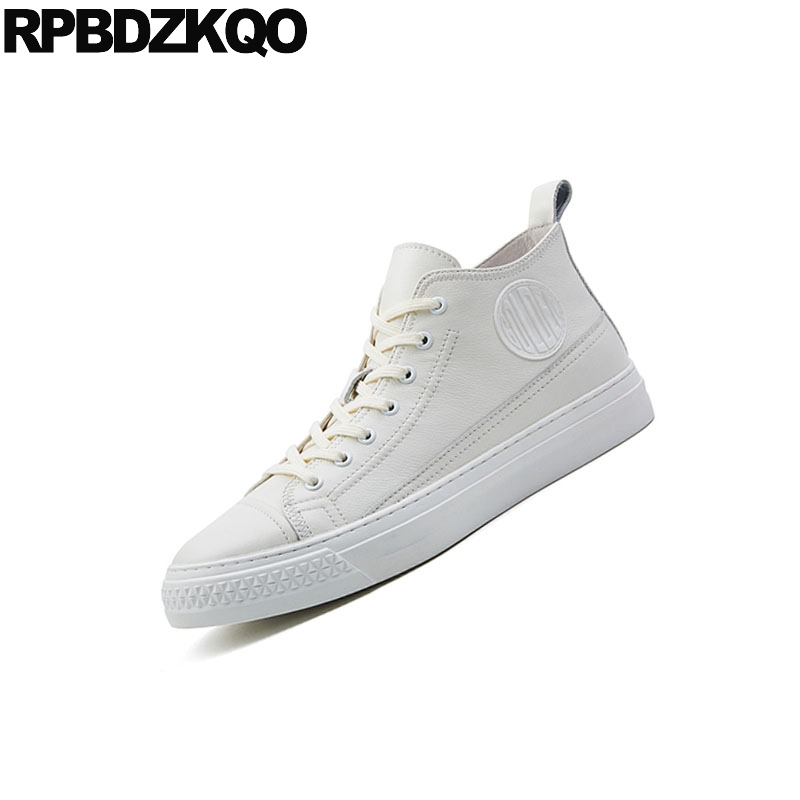 Luxo Flats Designer Tênis Marca Preto De Casual Skate Branco Homens Hop Rua Top Sapatos Runway Formadores Europeu Hip Alta branco Estilo 2018 H8q6Bn
