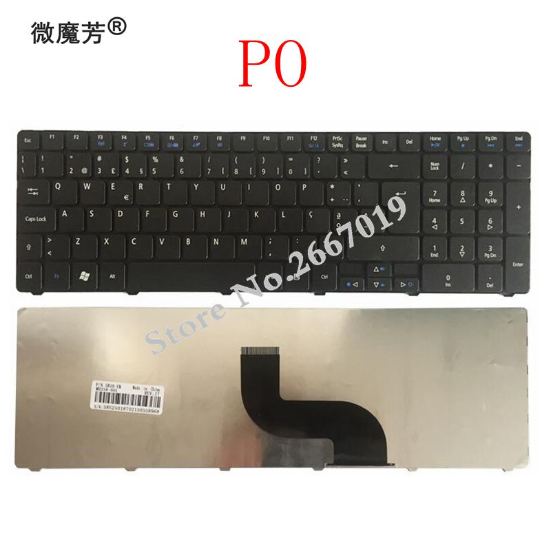 For Acer Aspire 5738 5738g 5810 5252 7739 7739G 7739Z 7739ZG 8940 5560(15') 5560G 5253G 5250 7540G Portuguese PO Laptop Keyboard