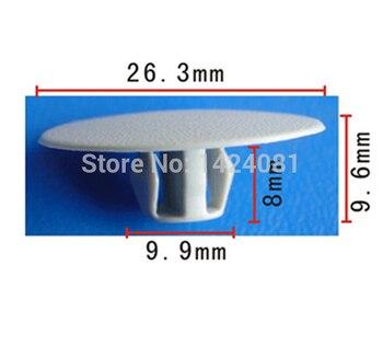 500x OEM Nylon Hood Insulation Retainer Clip for Mitsubishi #MB020923 (26x8x10mm)