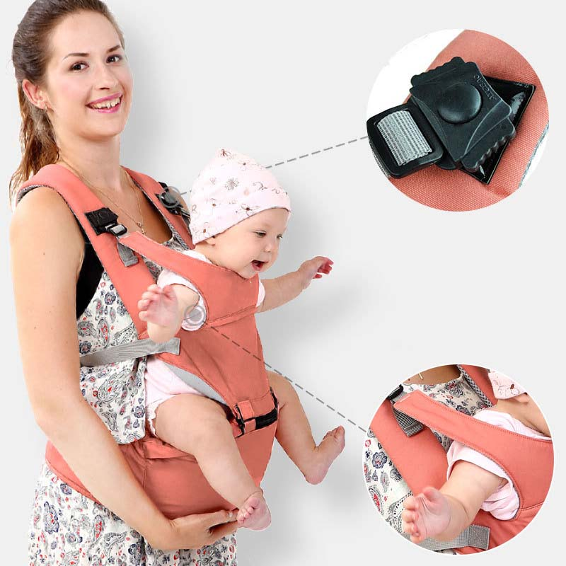 Baby Products Multi-Function Baby Waist Stool Adjustable Backpack and Hip Chair Four Seasons Universal Baby Large Capacity Breathable Safe and Comfortable Baby//Newborn,Black