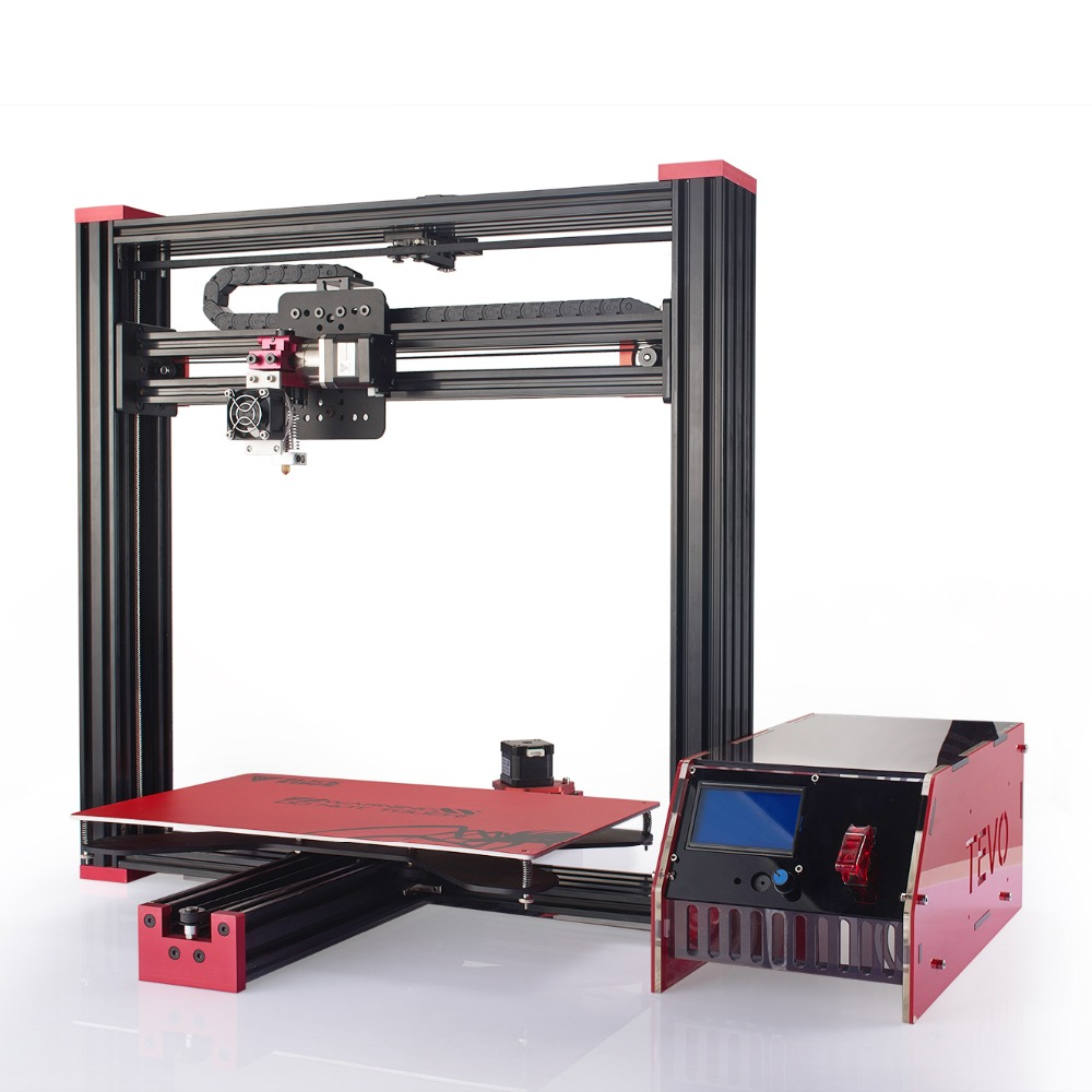 Newest TEVO Black Widow 3D Printer Large Printing Area 370 250 300mm OpenBuild Aluminium Extrusion 3D