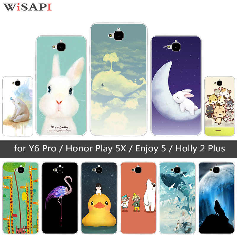 TPU Animal Mignon étui pour Huawei Honneur 4C Pro TIT-AL00 Y6 Pro TIT-L01 Profitez de 5 Honneur Holly 2 Plus Couverture Pour Huawei Honor Jouer 5X