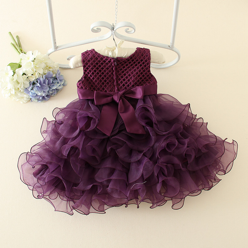 New Wedding Party Formal Ball Gown Flowers Girl Dress Baby Pageant Dresses Birthday Cummunion Toddler Kids Tulle Custom AD-1644 new wedding party formal ball gown flowers girl dress baby pageant dresses birthday cummunion toddler kids tulle custom ad 1644