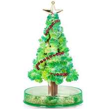 2019 170mm DIY Green Magical Grow Funny Christmas Trees Magic Growing Paper Crystal Tree Novelty Kids Science Toys For Children