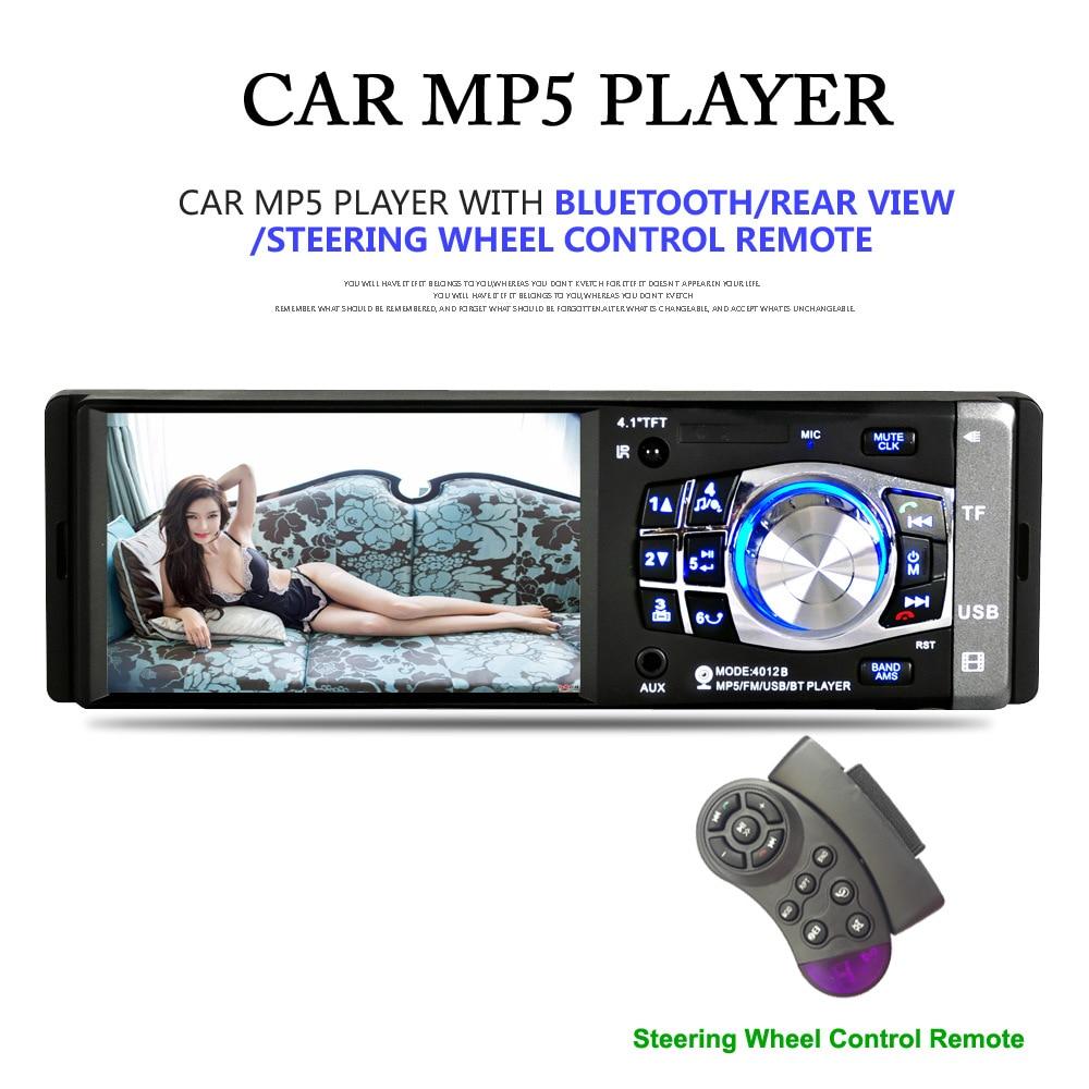 Здесь продается  4.1 Inch 1 Din Car Stereo MP5 Player with Bluetooth FM Radio Car Audio player 1080P Input Wireless Remote Control + Rear camera  Автомобили и Мотоциклы