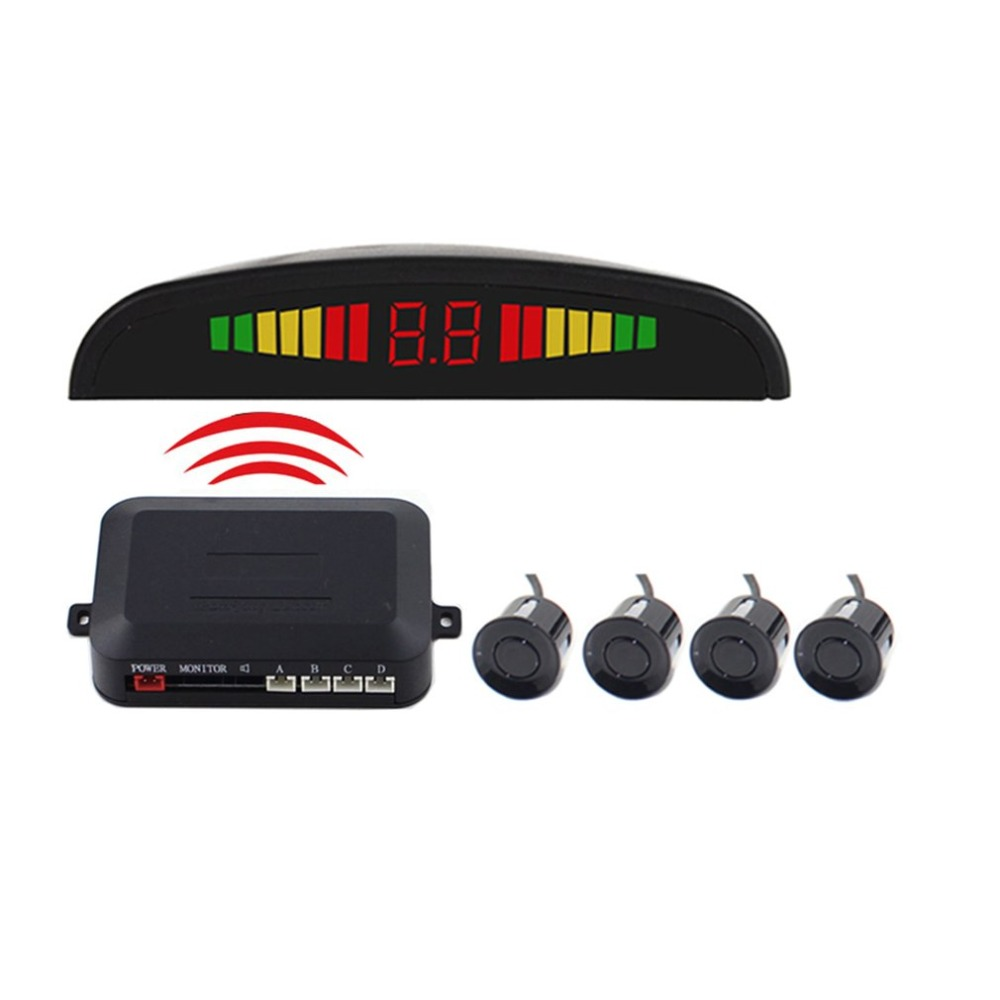 12V Car Auto Parktronic LED Parking Sensor With 4 Sensors Reverse Backup Car Parking Radar Monitor Detector System Display