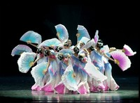 New classical dance clothes stage performance clothing umbrella dance costumes national fan dance Yangko clothing