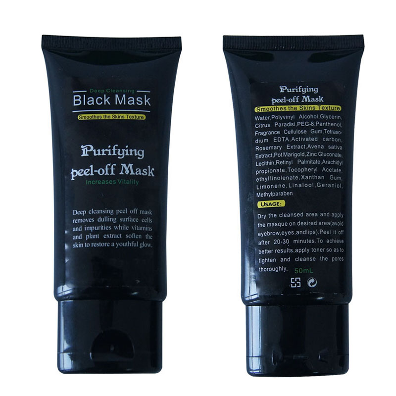 Big Promotion 50ml Professional Blackhead Remover Facial Masks Deep Cleansing Purifying Peel Off Black Mud Face Mask 2