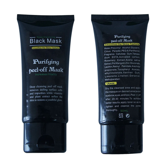 50ml Blackhead Remover Deep Cleansing Purifying Peel Off Acne Black Mud Face Mask