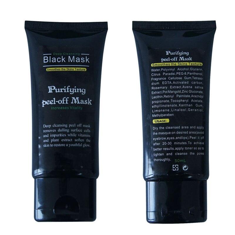 50ml Blackhead font b Remover b font Deep Cleansing Purifying Peel Off Acne Black Mud Face