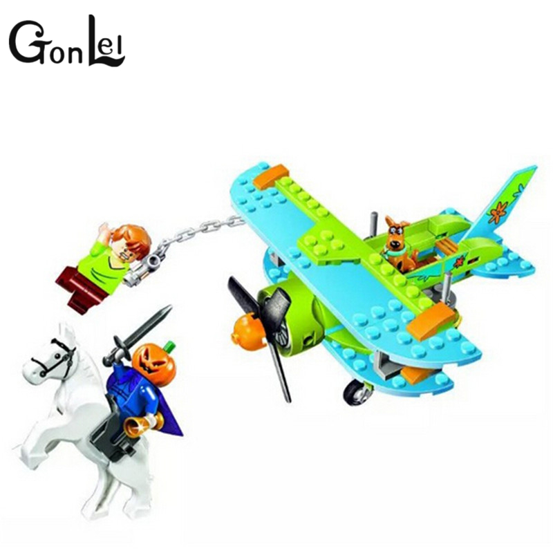 GonLeI Bela 10429 Scooby Doo Mummy Museum Mysterious Plane Building Block Toys compatible with kids gift bevle bela 10431 scooby doo haunted lighthouse shaggy daphne building block toys compatible with lepin scooby doo 79503