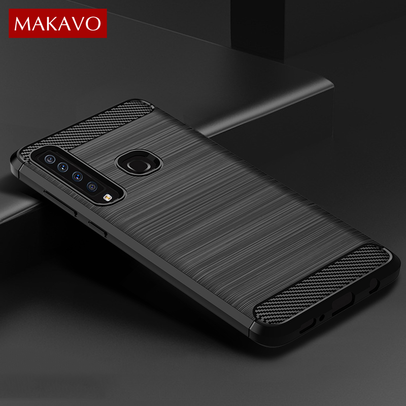 quality design 1f4dd ddcd1 US $2.54 15% OFF|Aliexpress.com : Buy MAKAVO For Samsung Galaxy A9 2018  Case Brushed Silicone Carbon Fiber Texture Back Cover For Samsung A9 2018  A920 ...