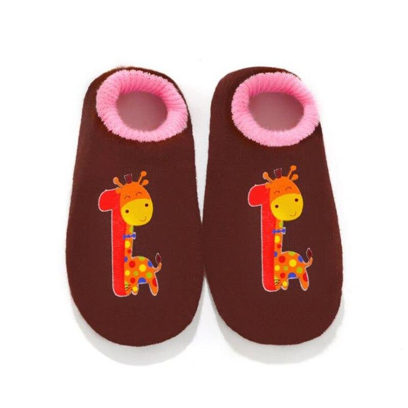 0-9numbers Neugeborenen Baumwolle Infant Anti-slip Socken Baby Socken Boden Socken Jungen Mädchen Niedlichen Cartoon Tier Baby Kleinkind Socken