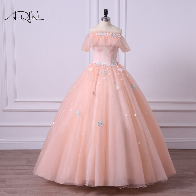 ADLN Fairy Quinceanera Dresses with Sleeves Off the shoulder ...
