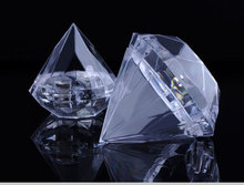 Package of 12 Clear Acrylic Diamond Shaped Favor Boxes Boxes Open For Wedding Bridal Shower Favors