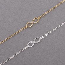 Jisensp 2017 New Fashion Love Infinity Bracelet for Women Personalized Infinity 8 Symbol Chain Bracelets Girls Party Gifts B009