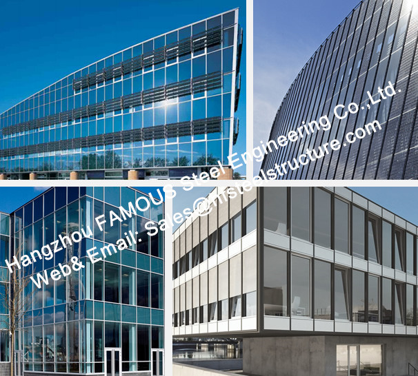 Structural Aluminum Framed Glass Facade Unitized Curtain Wall System with  Low E Coating Film Insulation-in Door & Window Frames from Home Improvement