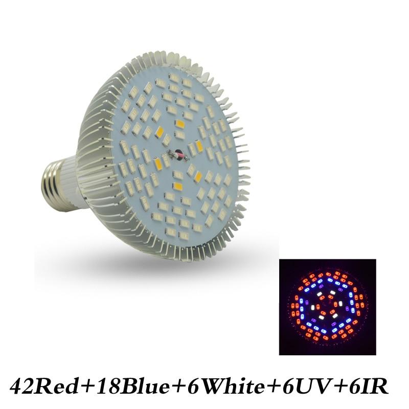 Full Spectrum Led Grow Light Bulbs E27 LED Plant Growing Lights Lamp For Plants Hydroponics System Vegetable Flower Greenhouse