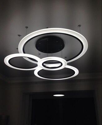 Современные светодиодные подвесные светильники Lamparas акриловые Люстра потолочная ламп ...