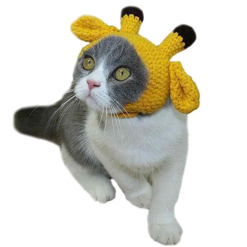 2b547ee0 Halloween Knitting Dog-accessories Hat Handmade Small Antler imitation  Puppy Pet Cat Winter Grooming Caps