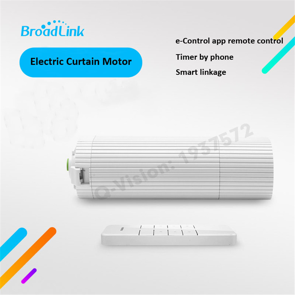 Broadlink DNA Dooya DT360E Cloud WIFI Control Electric Curtain Motor+Remote Control 230V 45W Smart Home Auto Sliding IOS Android ewelink dooya electric curtain system curtain motor dt52e 45w remote control motorized aluminium curtain rail tracks 1m 6m