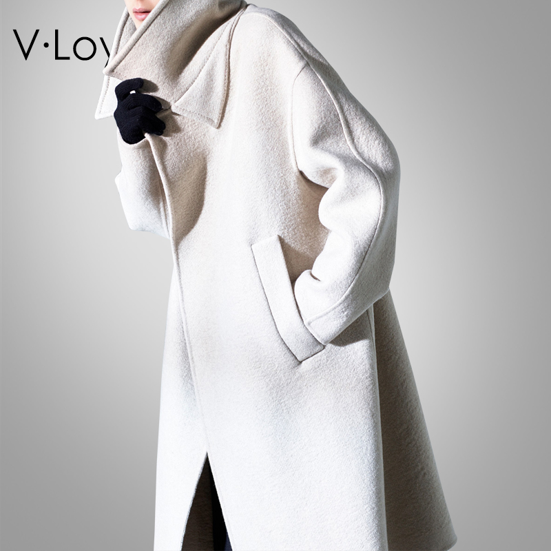 Autumn And Winter, New Fashions, Baggy Woolen Coat, Long And Medium Style Cashmere Coat Made In Europe And America.