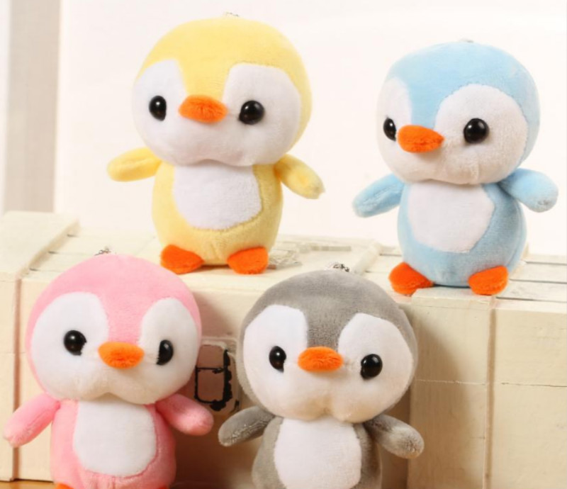 Little Cute 10cm Approx Small Penguin Little Plush Stuffed Toys Gift Baby Toys 4Colors