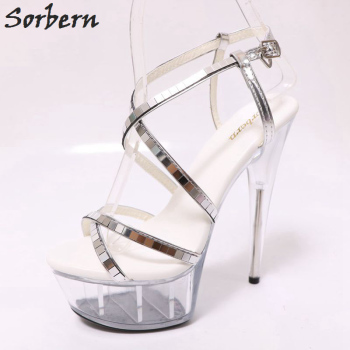 Sorbern Clear High Heels Slingbacks Sandals Open Toe Spike Heels See Through Shoes Summer Sandals Clear Heels Transparent Shoes Buy At The Price Of 79 21 In Aliexpress Com Imall Com
