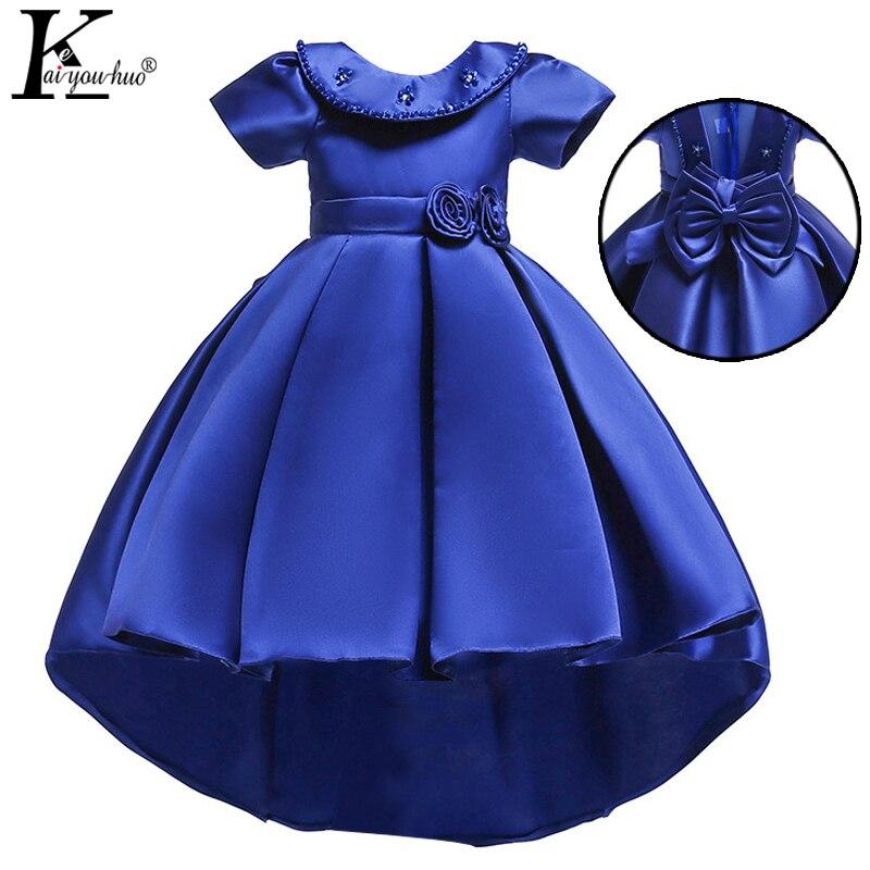 2018 Summer Girls Dress Elegant Party Princess Dress Performance Kids Dresses For Girls Wedding Kid Clothes 4 5 6 7 8 9 10 Years