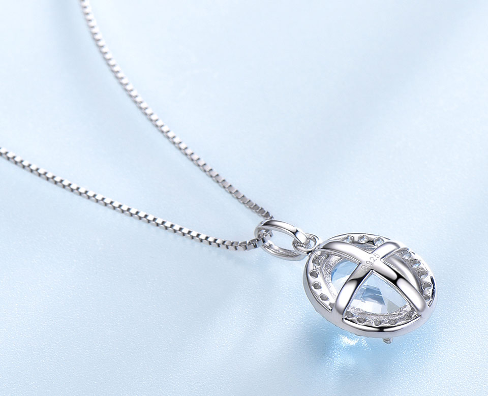 UMCHO Sky blue topaz 925 sterling silver jewelry set for women S010B-1 PC (12)