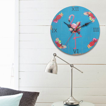 12 Inch American Style Wall Clock Natural Wooden Hanging Wall Watch Clocks Mute Needle Quartz Clocks Home Decoration Ornament